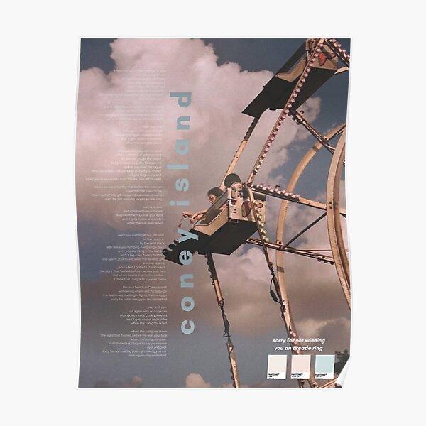 Affiche Taylor Swift de Coney Island - Album Evermore Poster