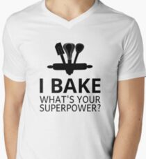 I Bake What's Your Superpower? Men's V-Neck T-Shirt