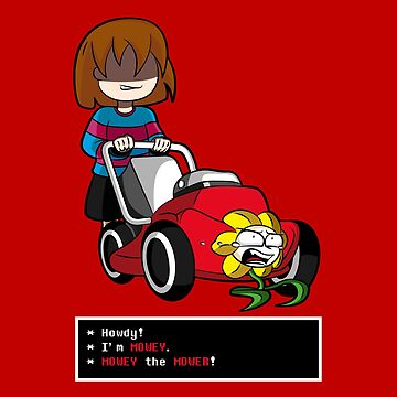Undertale Frisk and Flowey by ZARIAA