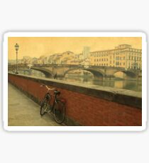 Old bridge in Florence, Italy Sticker