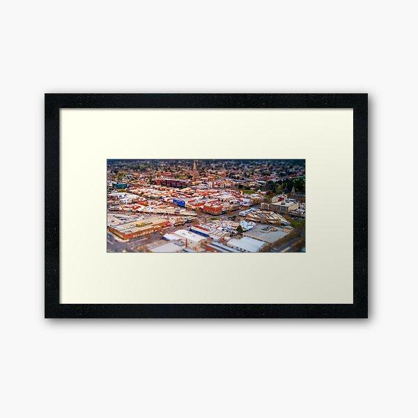 Aerial View of Bendigo Central Business District Framed Art Print