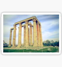 ruins of ancient temple of Zeus, Athens, Greece Sticker