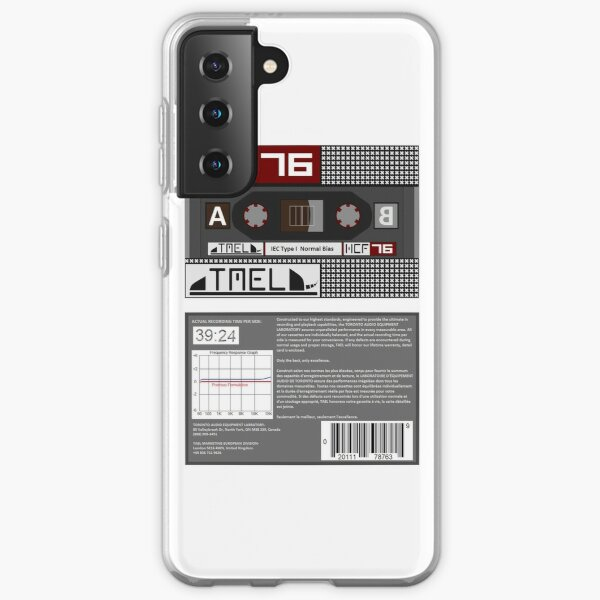 TAEL HCF 76 type 1 cassette (front and back) Samsung Galaxy Soft Case