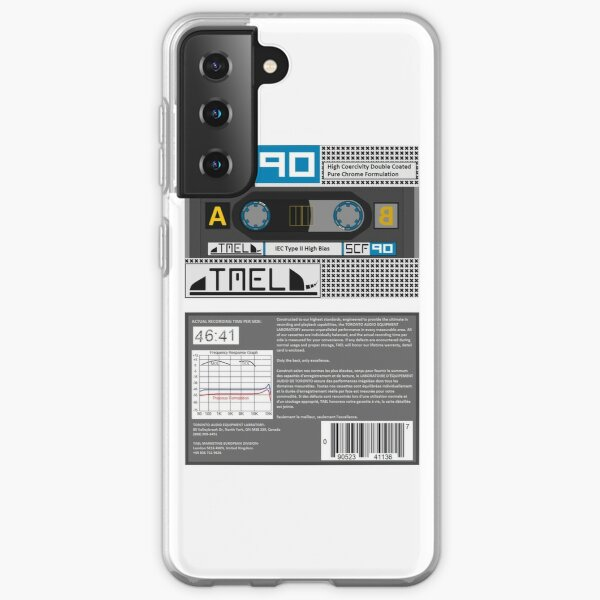TAEL SCF 90 type 2 cassette (front and back) Samsung Galaxy Soft Case