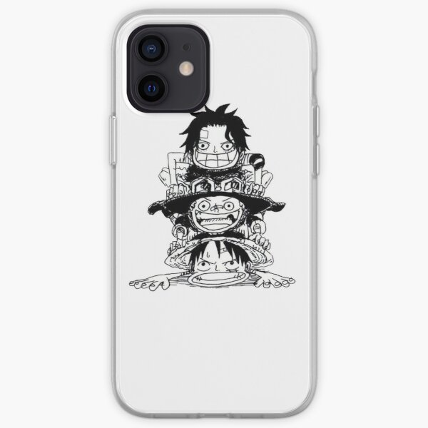 One Piece Luffy Ace Sabo Coque souple iPhone