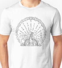 White Peacock Design T-Shirt
