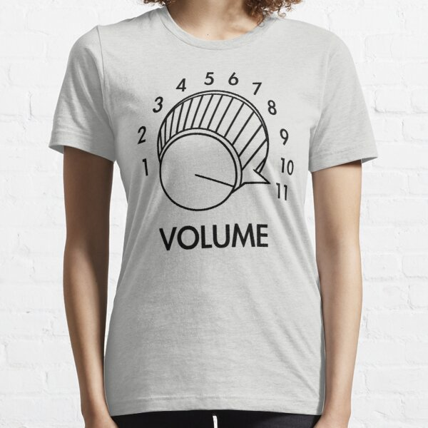 Volume Knob Up To 11 Spinal Tap Inspired Funny Guitar T-Shirt Essential T-Shirt