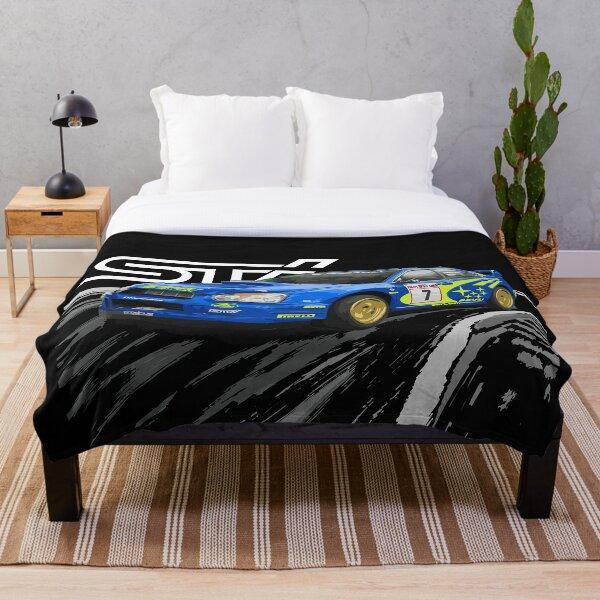 petter solberg sti world rally blue  Throw Blanket