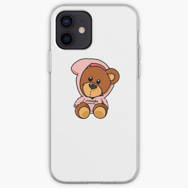 Diseño rosa oso Bieber Funda blanda para iPhone