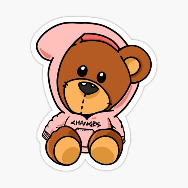 Bieber Bear design rose Sticker