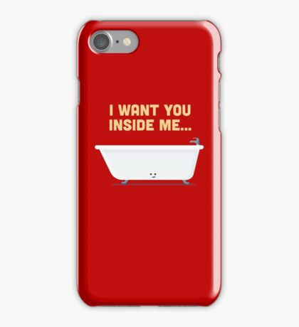 Character Building - Bath tub iPhone Case/Skin