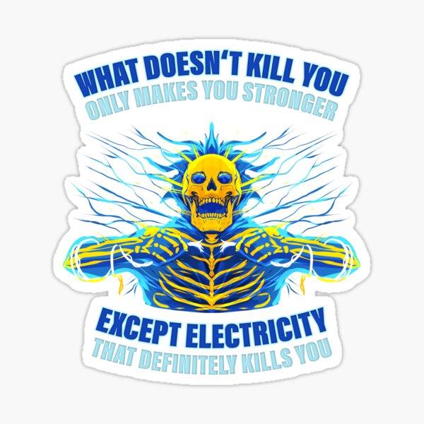 Electricista Ingeniero eléctrico Presupuesto de electricidad Pegatina
