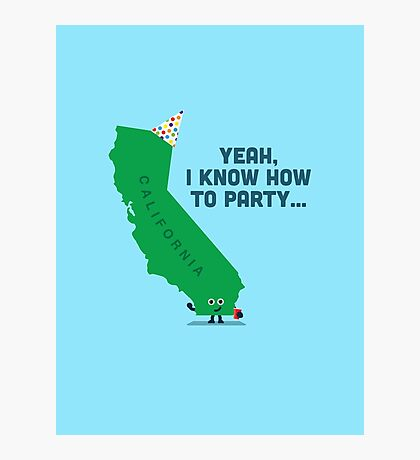 Character Building -  California, knows how to party… Photographic Print