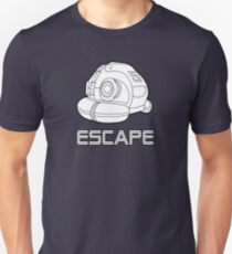 Sci-fi Escape Pod Design with Wording T-Shirt