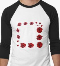 Poppies  Men's Baseball ¾ T-Shirt
