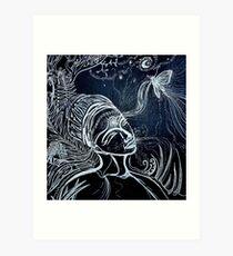 Nighttime Passing of Kindred Spirits Art Print