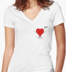 Hearty Hugs Women's Fitted V-Neck T-Shirt