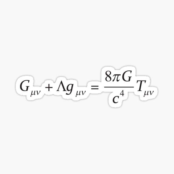 Einstein field equation Sticker