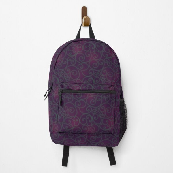 Swirly Green, Pink and Purple Pattern Backpack