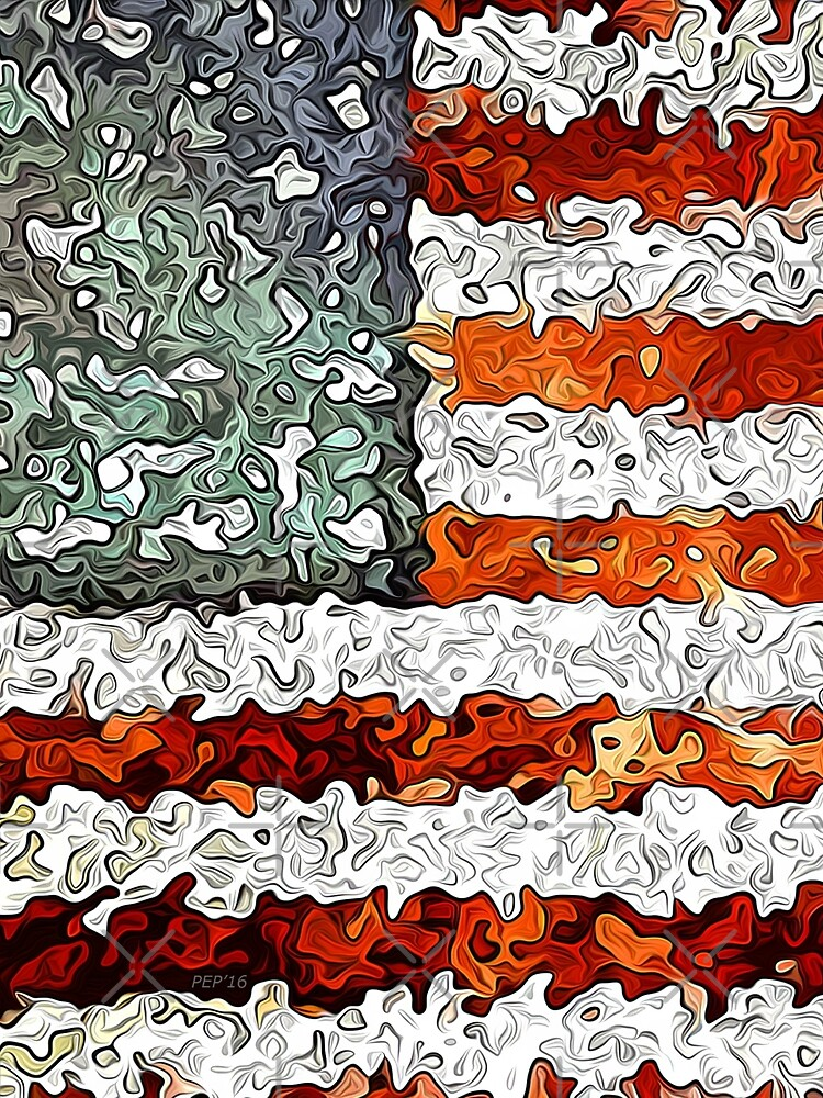 American Flag Abstract by morningdance