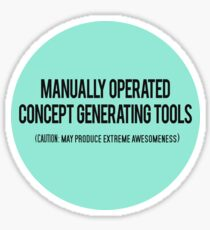 Manually Operated Concept Generating Tools  Sticker