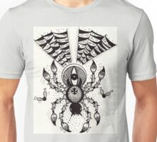 Black Spider Unisex T-Shirt
