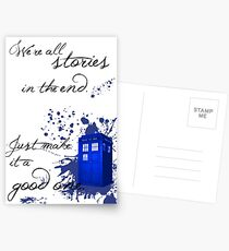We're All Stories in the End (white) Postcards