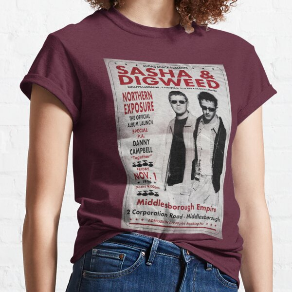 Sasha & John Digweed Northern Exposure Album Launch 1996 Classic T-Shirt