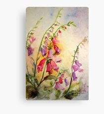 French Foxgloves Canvas Print