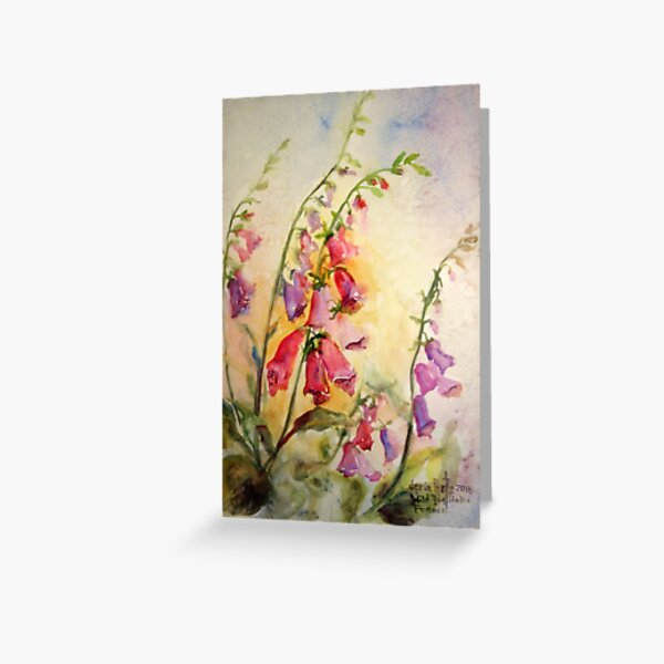 French Foxgloves Greeting Card