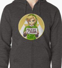 Dude, I'm Not ZELDA! Zipped Hoodie