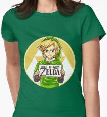 Dude, I'm Not ZELDA! Women's Fitted T-Shirt