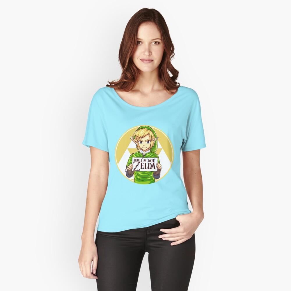 Dude, I'm Not ZELDA! Women's Relaxed Fit T-Shirt Front
