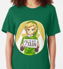 Dude, I'm Not ZELDA! Slim Fit T-Shirt