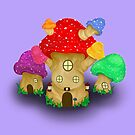 Mushroom Homes by SuperNinjaness