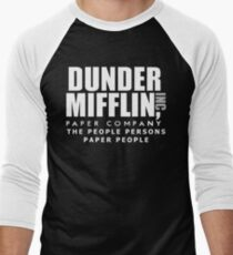 Dunder Mifflin The People Persons Paper People Men's Baseball ¾ T-Shirt