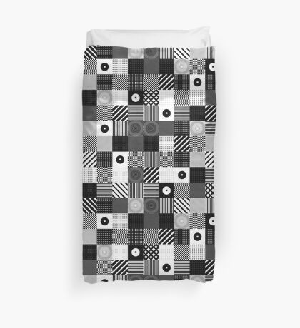 B & W Pop Pattern Duvet Cover