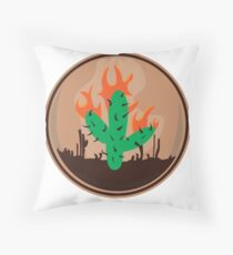 travis scott cactus la flame Throw Pillow