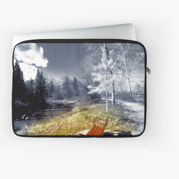 Selective Color -Bench Scene Laptop Sleeve