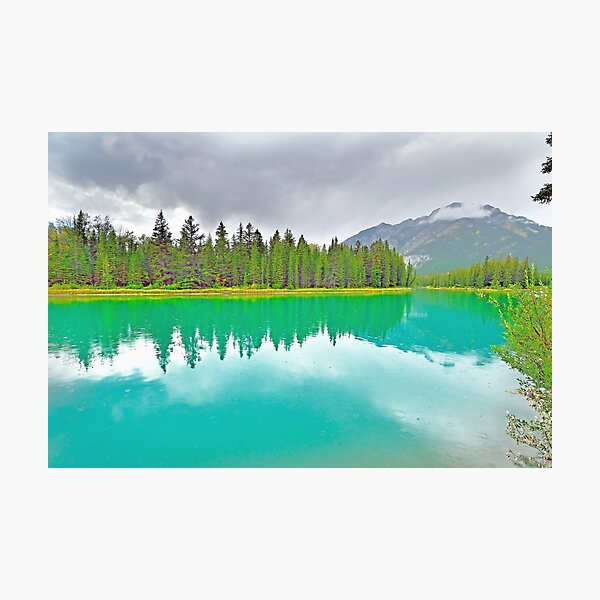 Bow River, Banff, Alberta, Canada Photographic Print