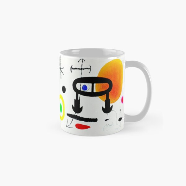 Joan Miró | 'I Never Learned How to Read' | Abstract Surrealism Classic Mug