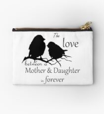 Mother Daughter Love Forever Quote Cute Bird Silhouette art Studio Pouch