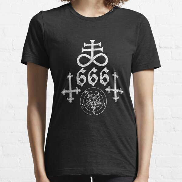 Satanic Symbols Leviathan Cross Satan 666 Essential T-Shirt