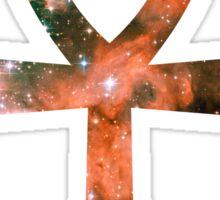 Kid Cudi Galaxy   Star Forming Region NGC-3603 [Red]   Ankh Sticker
