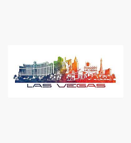 Las Vegas skyline colored Photographic Print
