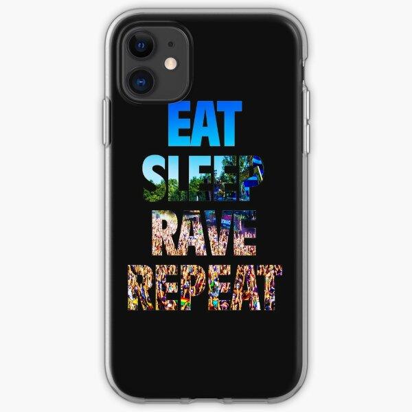 Eat Sleep Rave Repeat iPhone Soft Case