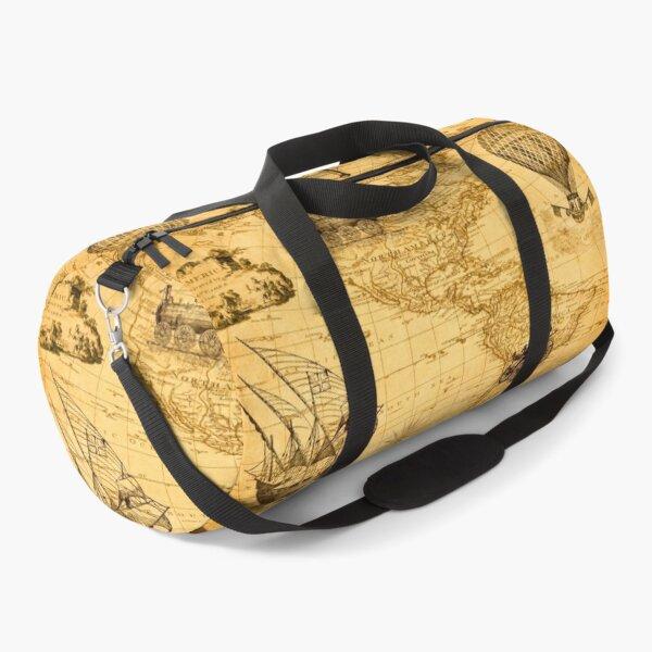Vintage Duffle Pattern Duffle Bag
