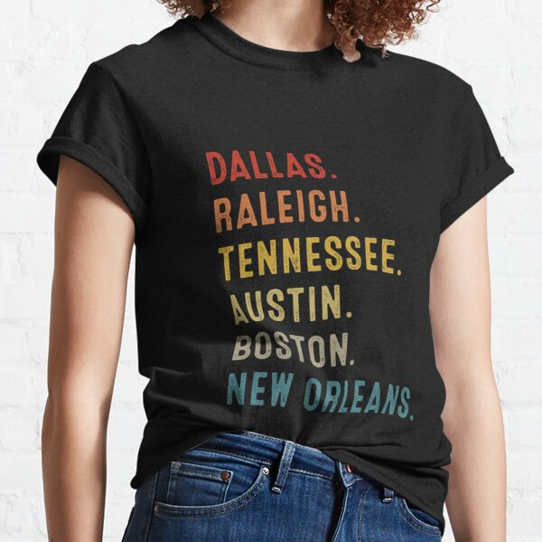 Dallas Raleigh Tennessee Austin Boston La Nouvelle-Orléans T-shirt classique