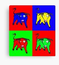 bull warhol like Canvas Print