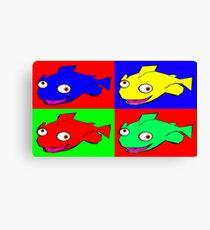 Fish warhol like Canvas Print